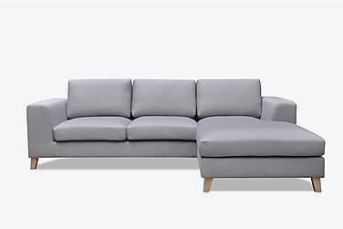 VIRGINIA 3-sits Soffa med Divan Höger Ljusgrå
