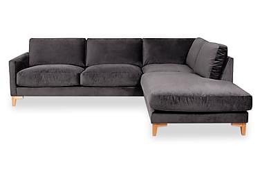 WERNER 3-sits Soffa med Schäslong Höger Mörkgrå