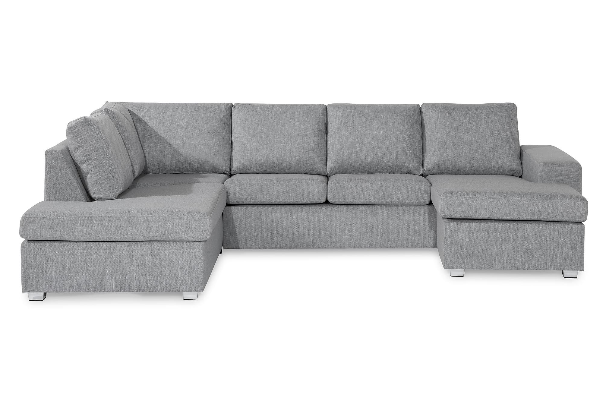 WIDHAM U-soffa med Divan Höger Grå