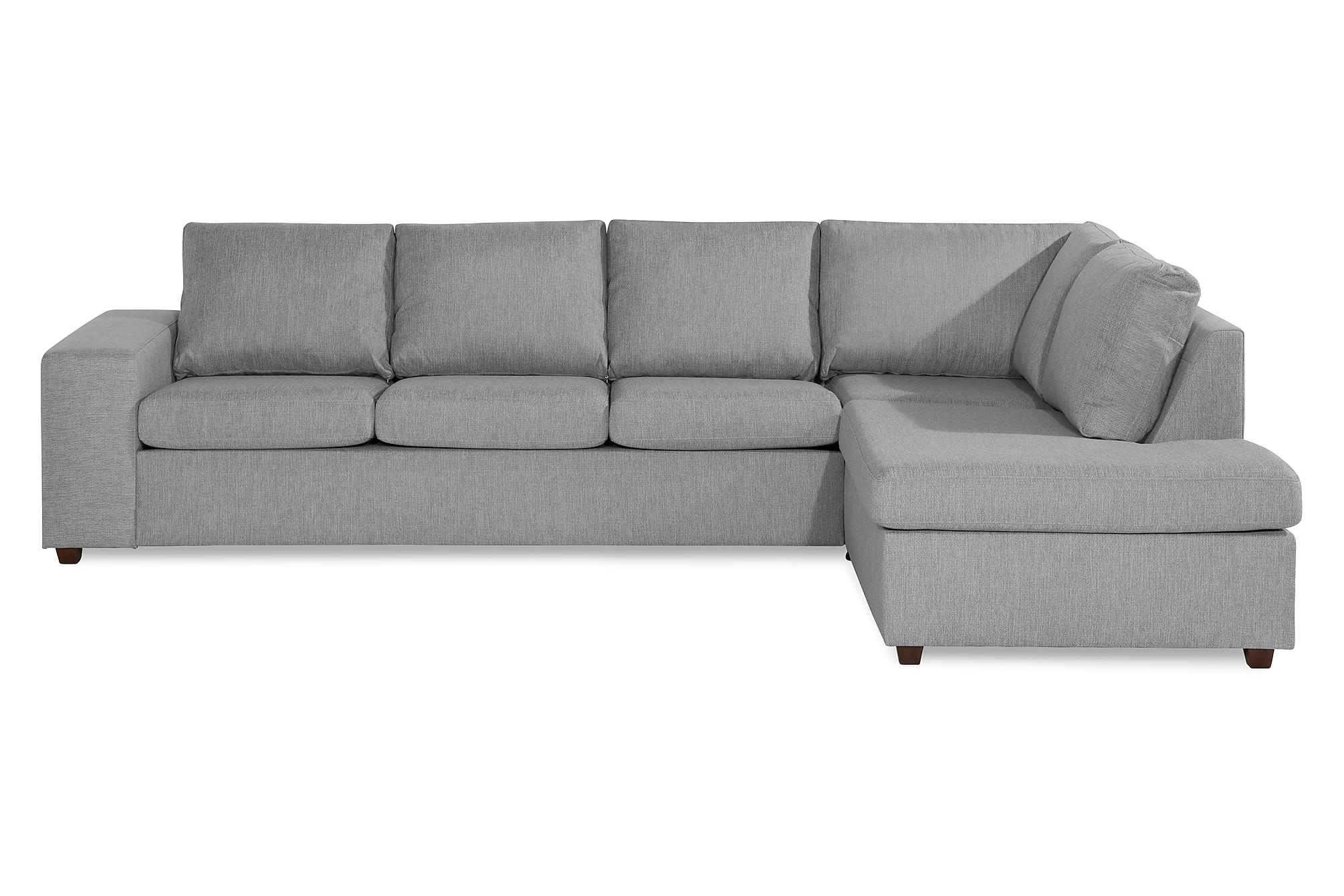 WINDHAM 4-sits Soffa med Schäslong Höger Ljusgrå