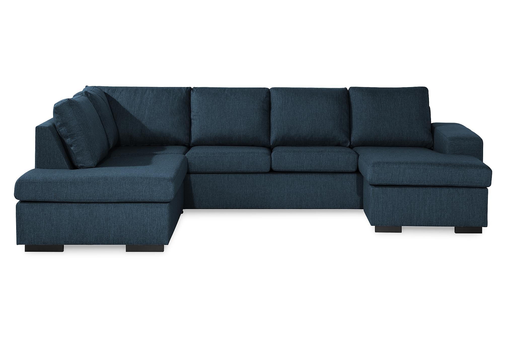 WINDHAM U-soffa med Divan Höger Mörkblå