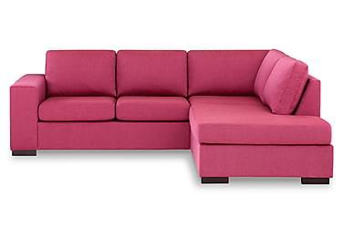 KENT 3-sits Soffa med Schäslong Höger Rosa