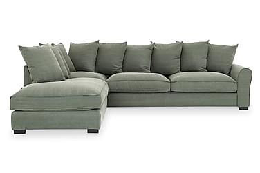 MADISON 4-sits Soffa med Schäslong Vänster Grön