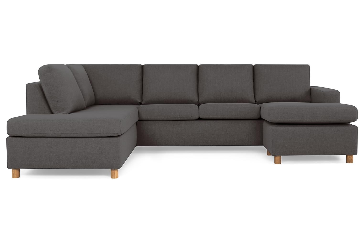 New NEW YORK Large U-soffa Vänster Mörkgrå -