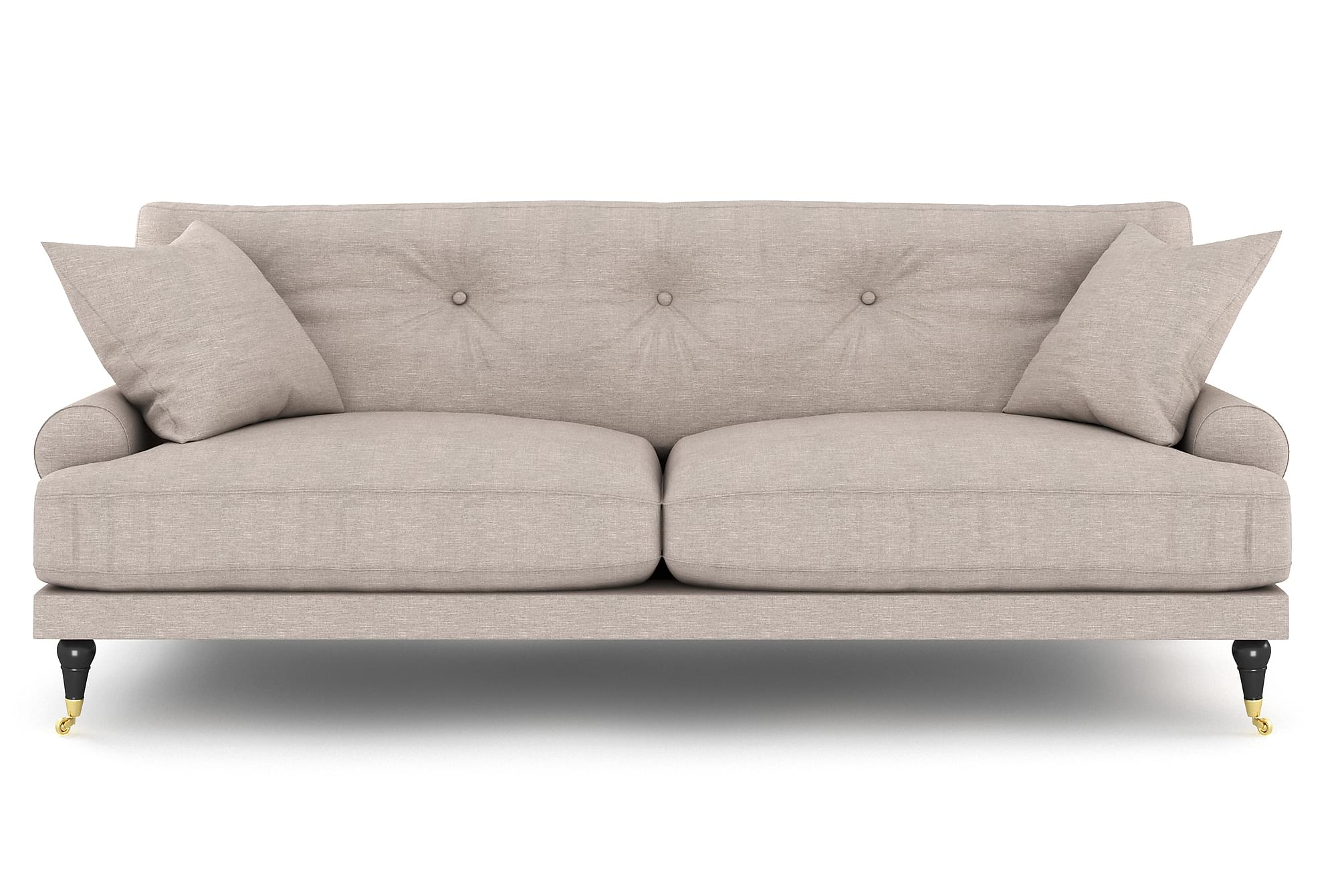 ANTHONY 2-sits Soffa Beige/Mässing, Howardsoffor