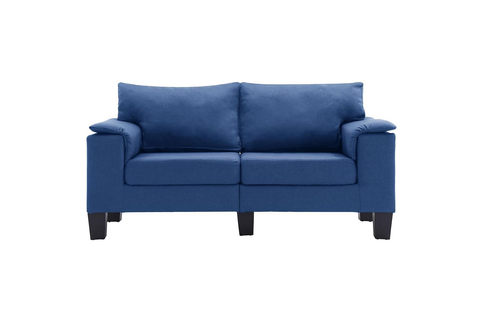 2-sitssoffa blå tyg, Modulsoffor