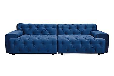 MESA Sammetssoffa 4-sits Blå