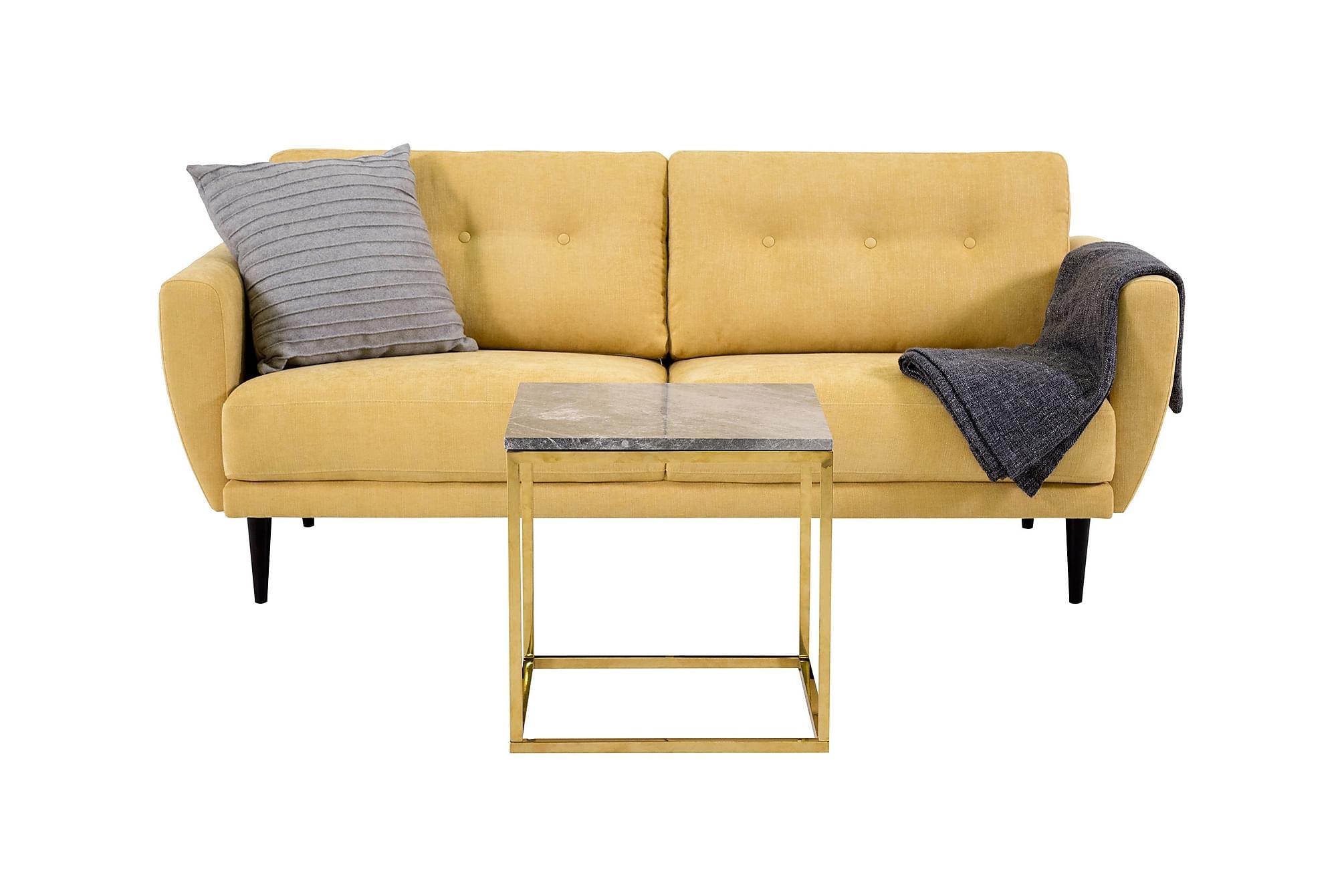 Anzio 2 5 sits soffa gul sammetssoffa soffor inomhus for Q furniture west kirby
