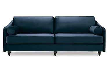 RICARDI Sammetssoffa 3-sits Midnattsblå