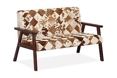 RICCIA 2-sits Soffa Getläder Vit/Brun