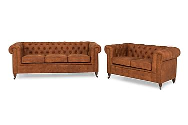 CHESTERFIELD LUX Soffgrupp 3-sits+2-sits