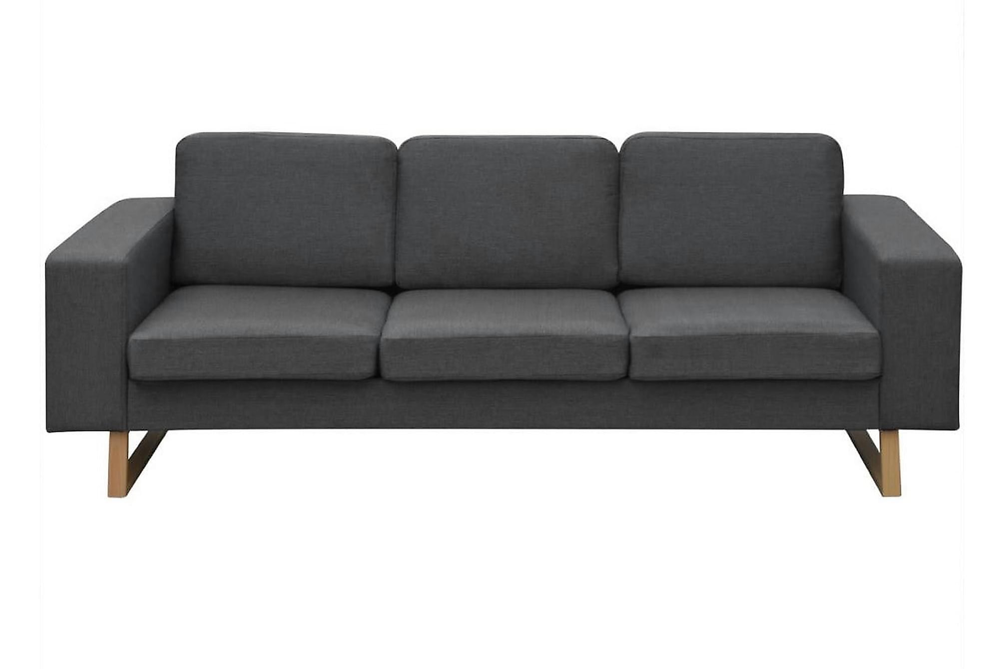 Soffgrupp med 2-sits och 3-sits mörkgrå