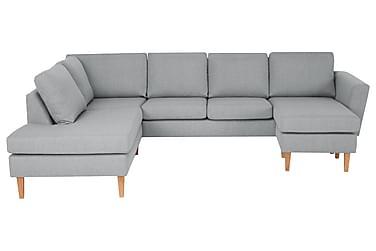 ALONSO U-soffa med Divan Höger Ljusgrå