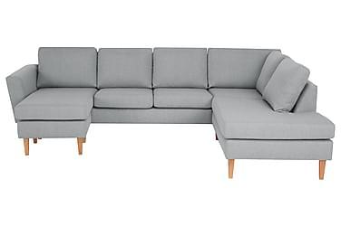 ALONSO U-soffa med Divan Vänster Ljusgrå
