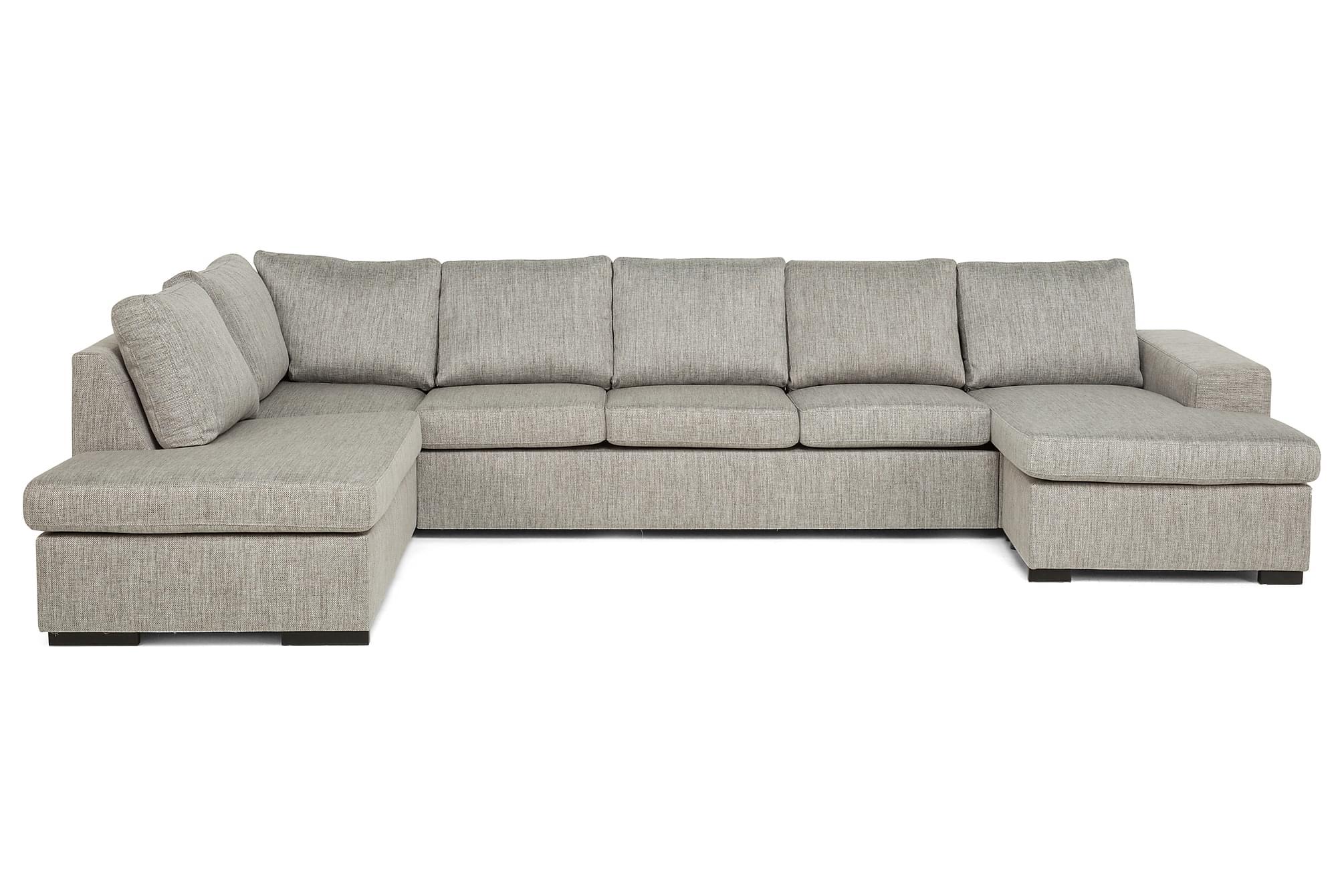AVERY U-soffa med Divan Höger Beige, U-soffor
