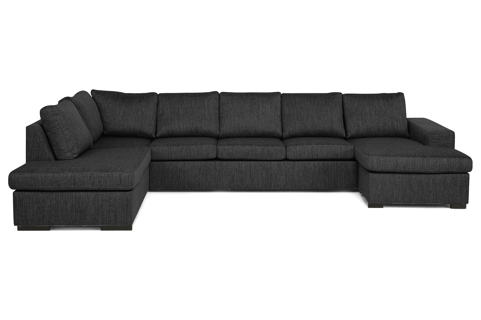 AVERY U-soffa med Divan Höger Mörkgrå, U-soffor