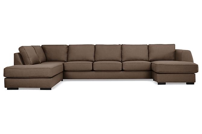 CLARKSVILLE U-soffa Large med Divan Höger Brun - Möbler & Inredning - Soffor - U-soffor