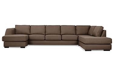 CLARKSVILLE U-soffa Large med Divan Vänster Brun