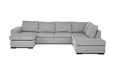 CONNECT U-soffa Large med Divan Vänster Ljusgrå