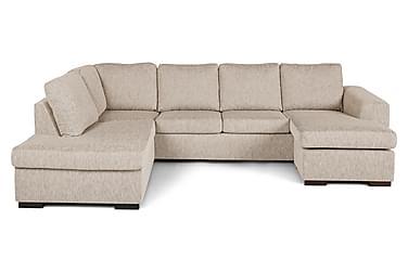 CONNECT U-soffa med Divan Höger Beige