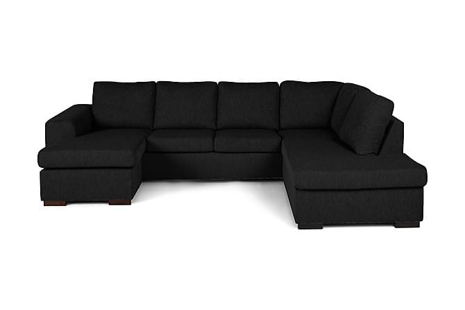 CONNECT U-soffa med Divan Vänster Svart - Möbler & Inredning - Soffor - U-soffor