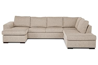 CONNECT U-soffa XL med Divan Vänster Beige