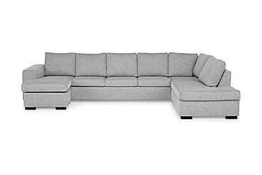 CONNECT U-soffa XXL med Divan Vänster Ljusgrå