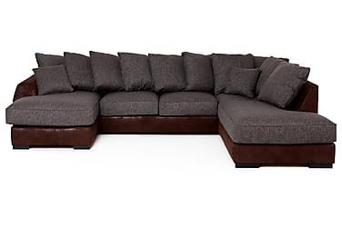 JETT U-soffa med Divan Vänster Brun/Grå