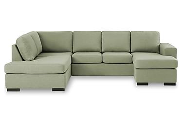 KENT U-soffa Large med Divan Höger Grön