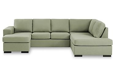 KENT U-soffa Large med Divan Vänster Grön