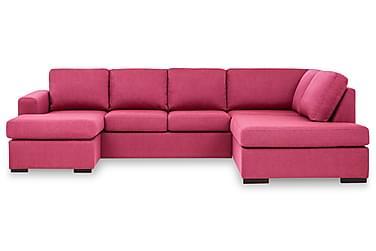 KENT U-soffa Large med Divan Vänster Rosa