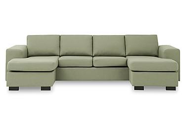 KENT U-soffa med Dubbeldivan Grön