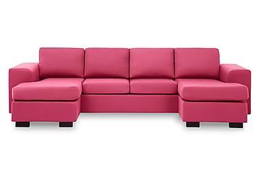 KENT U-soffa med Dubbeldivan Rosa