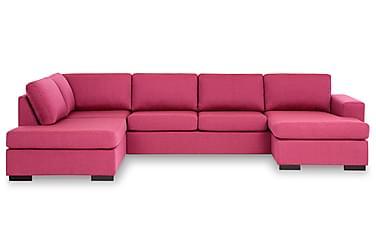 KENT U-soffa XL med Divan Höger Rosa