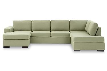 KENT U-soffa XL med Divan Vänster Grön