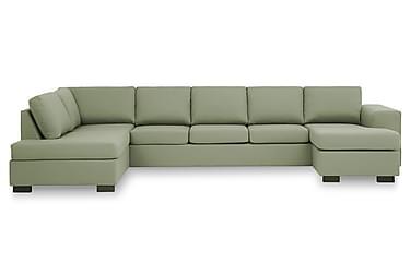 KENT U-soffa XXL med Divan Höger Grön