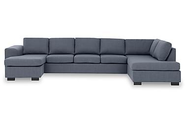KENT U-soffa XXL med Divan Vänster Blå