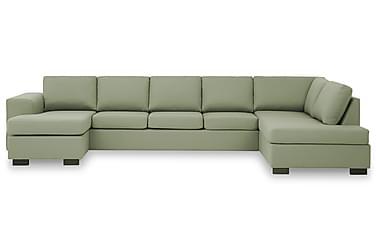KENT U-soffa XXL med Divan Vänster Grön