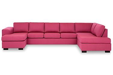 KENT U-soffa XXL med Divan Vänster Rosa
