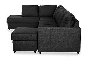 NASHVILLE LYX U-soffa Large med Divan Höger Svart
