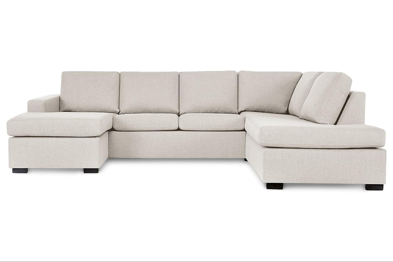 New NEW YORK Large U-soffa Höger Beige -