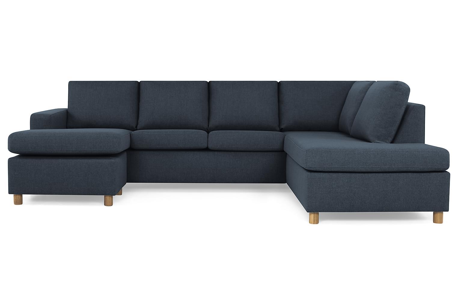 NEW YORK Large U-soffa Höger Mörkblå -
