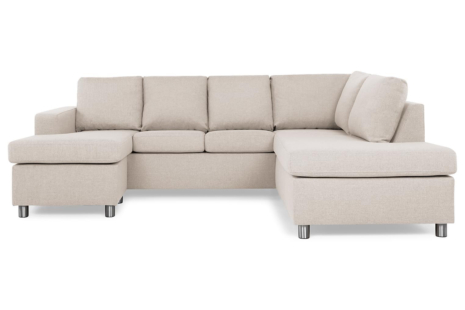 New NEW YORK U-soffa Höger Beige -