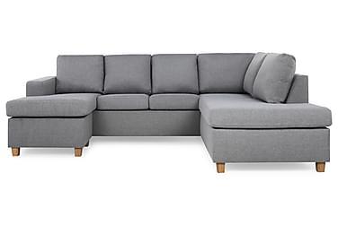 NEW YORK U-soffa Large Divan Vänster Ljusgrå