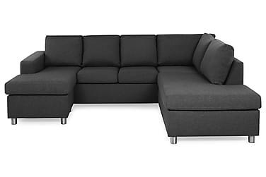 NEW YORK U-soffa Large Divan Vänster Mörkgrå