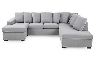 NEW YORK U-soffa Large Höger + Kuddar Ljusgrå
