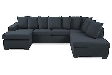 NEW YORK U-soffa Large Höger + Kuddar Mörkblå