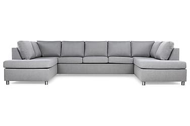 NEW YORK U-soffa med Schäslonger Ljusgrå