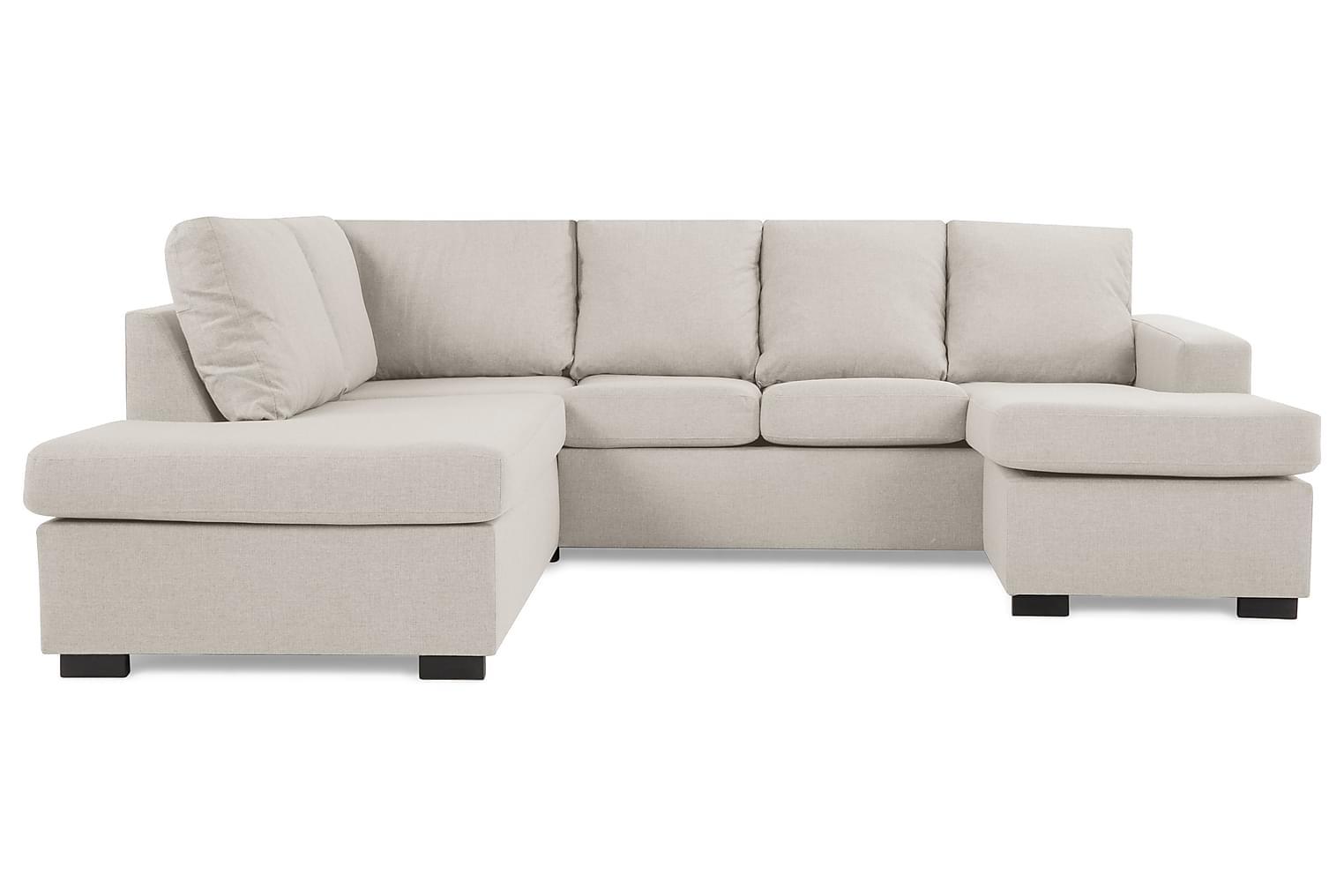 New NEW YORK U-soffa Vänster Beige -