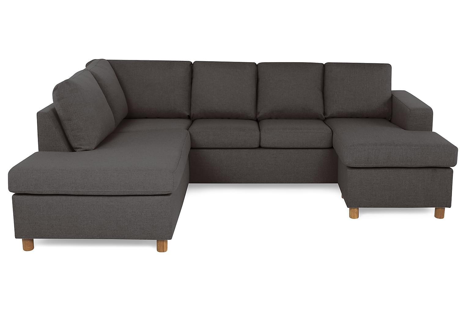 New NEW YORK U-soffa Vänster Mörkgrå -